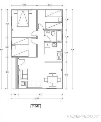 Proyecto casa 60 M2.