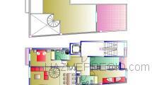Plano de una vivienda construida por Pronua