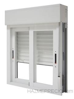 ventana corredera con persiana