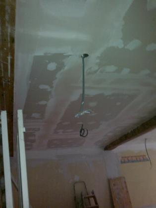 techo pladur entre solivos de madera