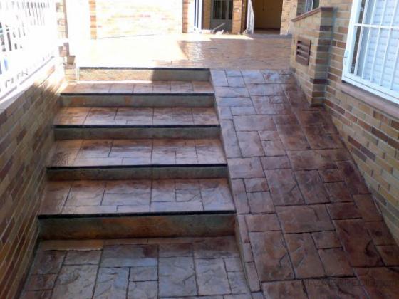 Pavimento hormigon impreso y pulido muros pavimadrid - Pavimento impreso precio m2 ...