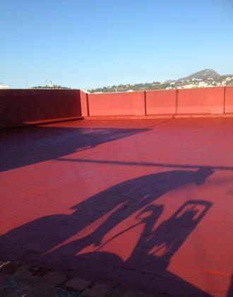 Rehabilitación de terraza en Alcira, para Caja duero.