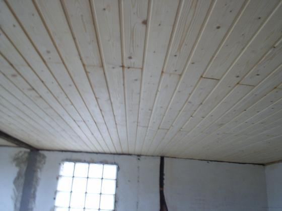 techo salon en machimbrado de pino