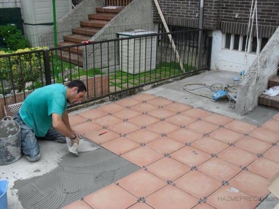 reforma  terraza de gres