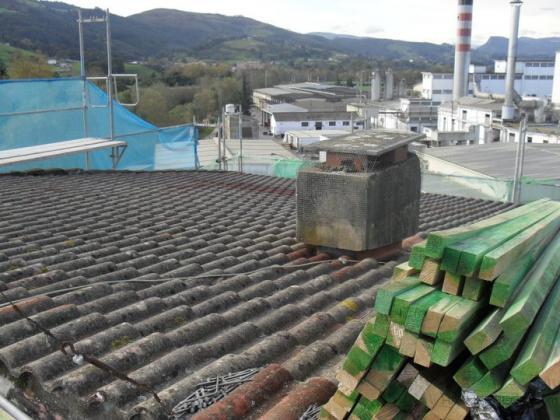 desmantelando el  tejado