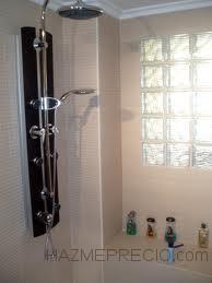 Reforma baño con columna ducha.