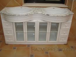 mueble baño aluminio