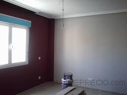 Terminacion de dormitorio perlita pintura en color