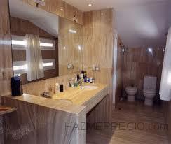 Mueble lavabo de obra en baño