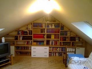 libreria a medida para buhardilla