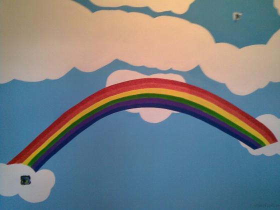Mural pared habitación infantil