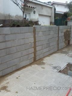 muro de bloques de hormigon