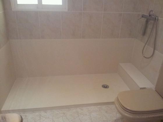 baño.plato de ducha de silestone, obra av.primado reig( valencia)