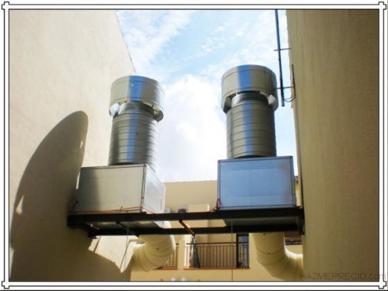 Trabajos de ventilacion y extraccion de garajes, sotanos, locales comerciales etc.