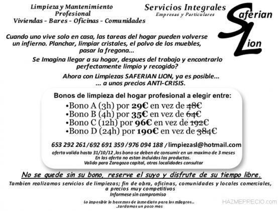 Limpiezas y reformas saferian lion 50015 zaragoza - Trabajos de limpieza en casas particulares ...
