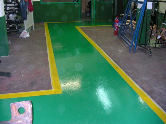 pintura suelos epoxi y señalizacion