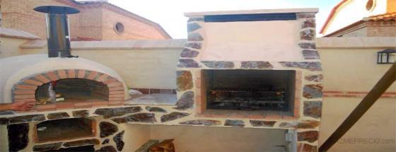 barbacoa y horno de obra