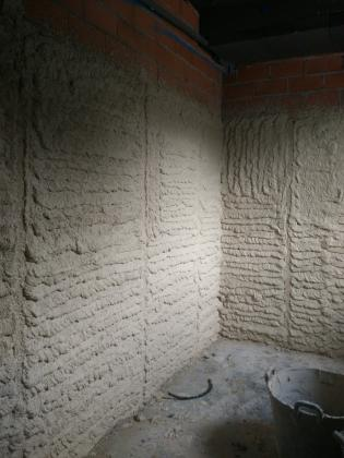 proyectado paredes con yeso
