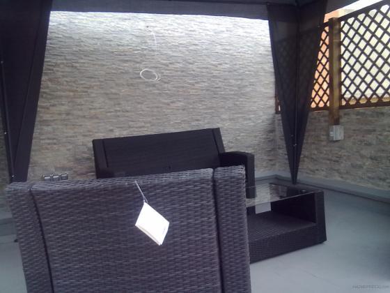 Reforma integral terraza con muebles incluidos y carpa for Muebles terraza barcelona