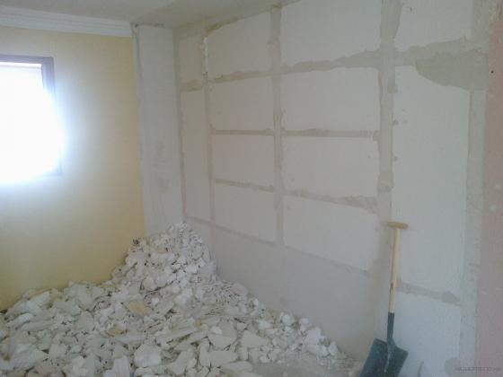 Reforma planta baja vivienda unifamiliar valdemoro - Mueble de escayola ...