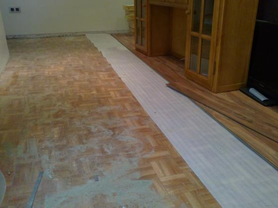 Montar tarima flotante y arreglar mueble cocina gij n asturias - Tarima flotante para cocinas ...