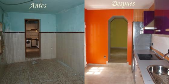 Reforma completa de una casa en puertollano calle copa - Muebles cocina ciudad real ...