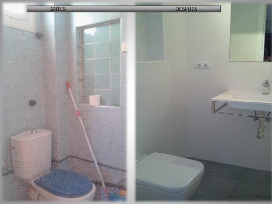 Ba o suelo gris pared blanca - Gres para banos ...