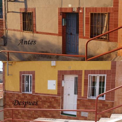 Reforma completa de una casa en puertollano calle copa - Fachadas ladrillo rustico ...