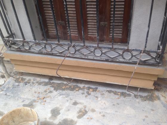 Balcon en proceso de restauracion.