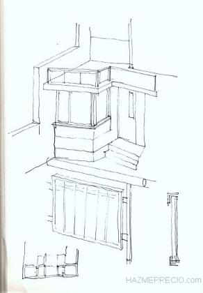Croquie ventanal salon