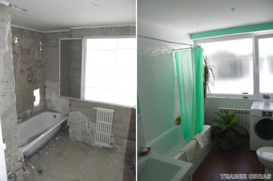 Reforma de cuartos de ba o cocina alisado y falsos techos en vivienda en madrid getafe madrid - Casas reformadas antes y despues ...