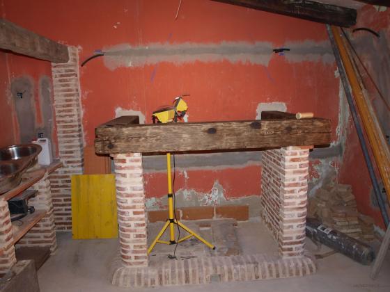 Reforma de una cocina campera c camino de la guija - Construccion de chimeneas de ladrillo ...
