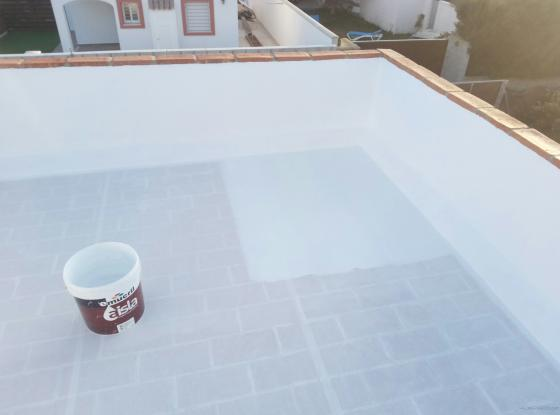 limpieza con agua a alta presion,impermea ilizacion con velo de fibras y acabado con caucho transitable alta calidad