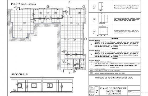Proyecto t cnico reforma de local documentaci n licencia for Planos carpinteria