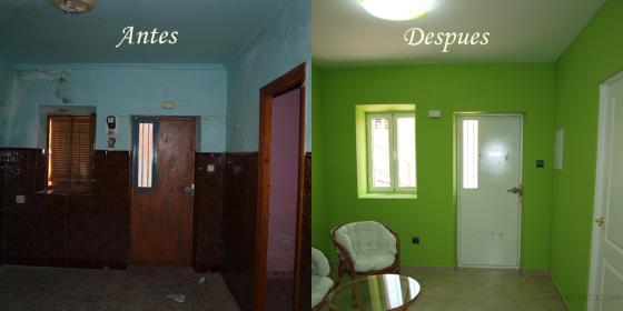 Reforma completa de una casa en puertollano calle copa - Paredes verde pistacho ...