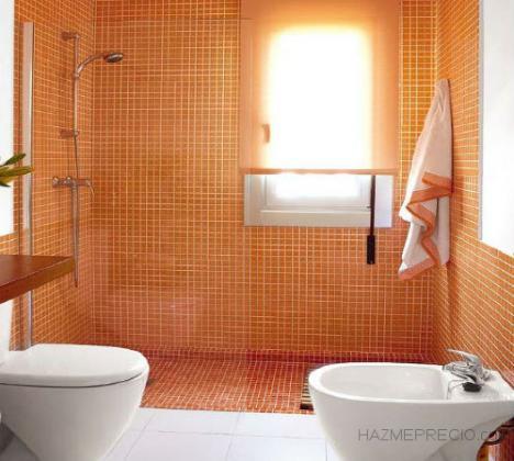 Reforma completa de baño,paredes,techo,soleria,accesorios y sanitarios nuevos y cambio de bañera por plato de ducha.