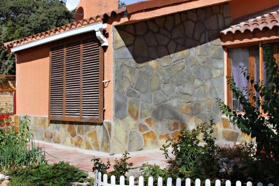 Revestimiento de paredes exteriores/fachada con piedra natural pizarra