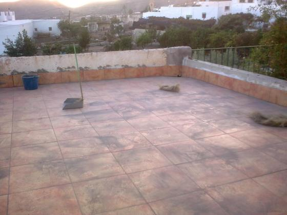 Trabajo de impermeabilizacion de terraza sobre garaje de for Viviendas sobre terrazas