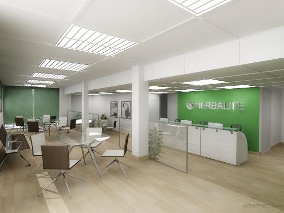 Reforma integral y equipamiento de mobiliario en oficina for Suelo 3d madrid