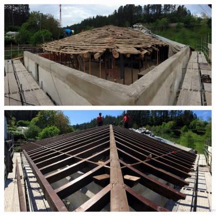 Rehabilitacion cubierta de madera morga vizcaya for Tejados madera vizcaya
