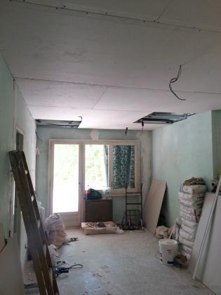 techo colocado de pladur listo para encintar