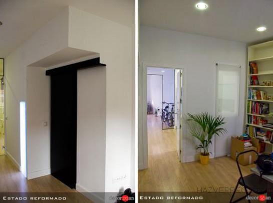 Una reforma de 43m2 en un piso madrid coslada madrid - Puertas correderas abatibles ...