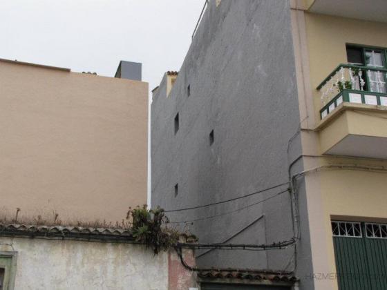 Raspado y pintado de una contra fachada realejos los - Pintado de fachadas ...