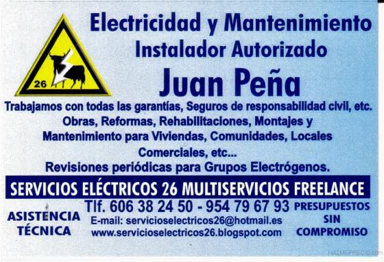 su electricista autorizado trabajamos en toda andalucia