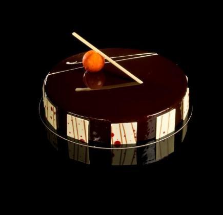 Tarta de chocolate, con naranja