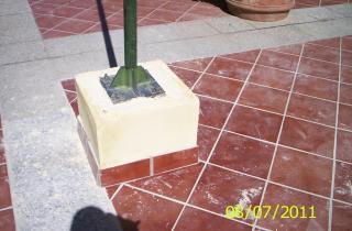 Rehabilitación de pedestal de luminaria.