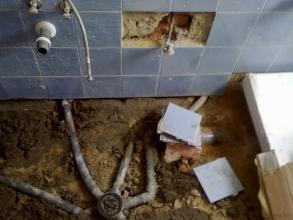 demolicion de todo el baño