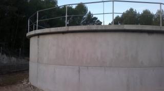 Instalacion de deposito de 235 m3 con un diametro de 10 metros y 3 metros de altura, prefabricado de hormigon (MURO BASE)