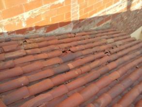 tejado antes de la reparacion