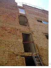 Se pico la fachada antigua